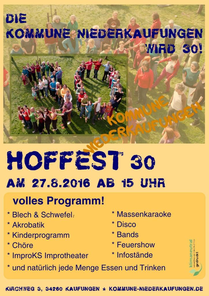Hoffest Kommune Niederkaufungen Plakat