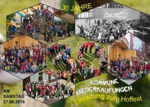 A6 postkarte Hoffest 2016 Kommune Niederkaungen